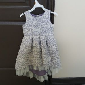 Cute Dress Lilac and Gold Hi Low Assimetrical